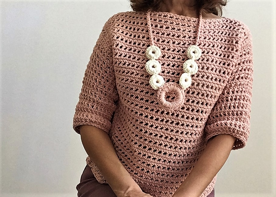 Crazy Cool Blushing Autumn Sweater Crazy Cool Crochet