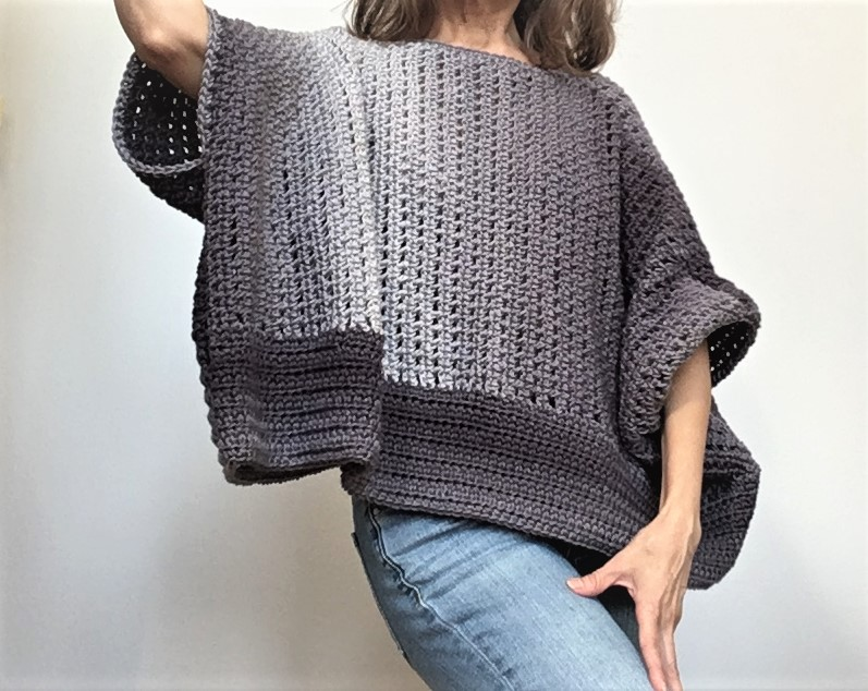 suéter de crochet oversize