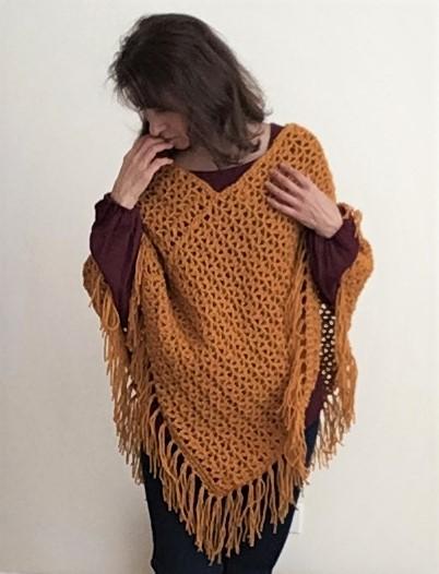 Pumpkin Spice Fall Poncho - Crazy Cool Crochet