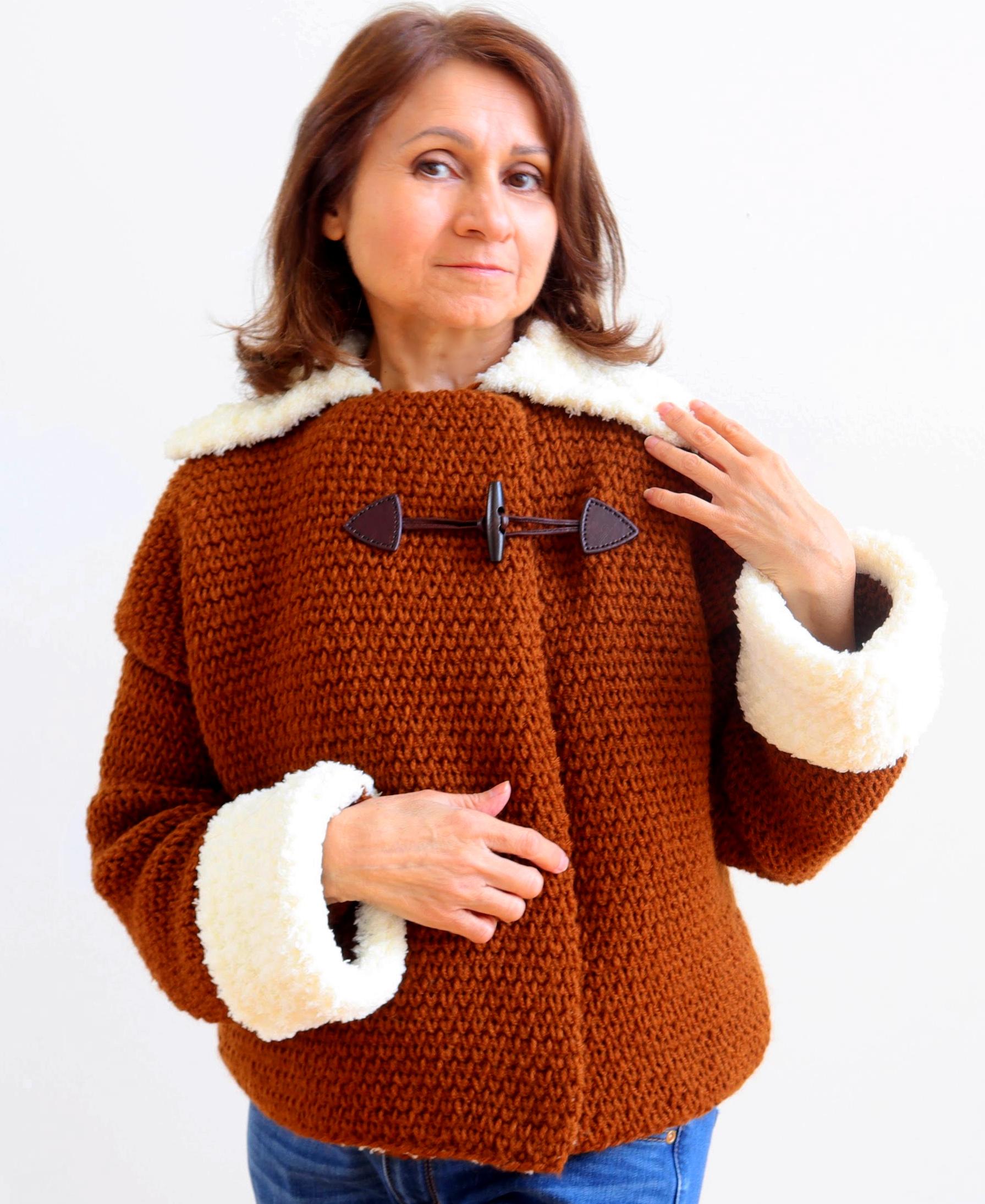 patrón libre de chaqueta de ganchillo