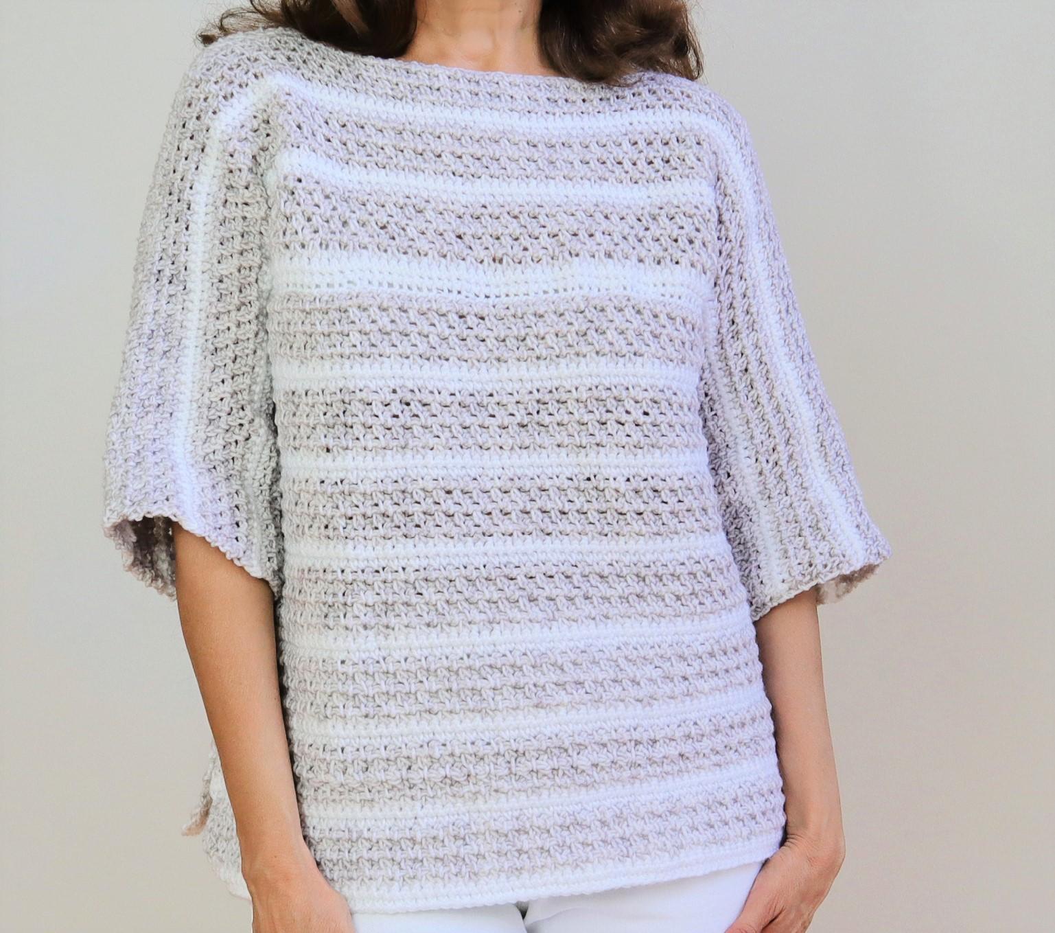 jersey de ganchillo para mujer