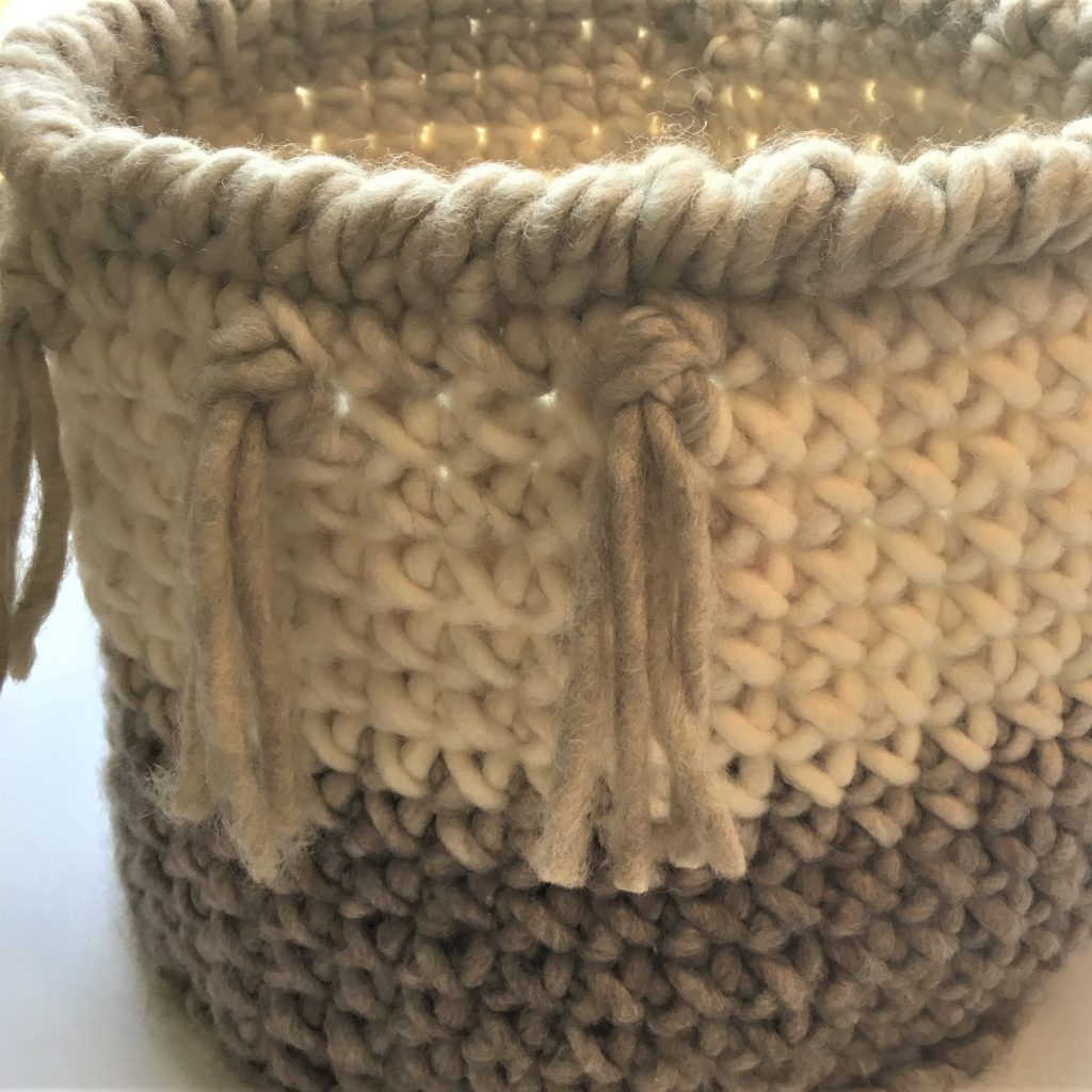 EASY Crochet Round Basket with Fringe - Crazy Cool Crochet