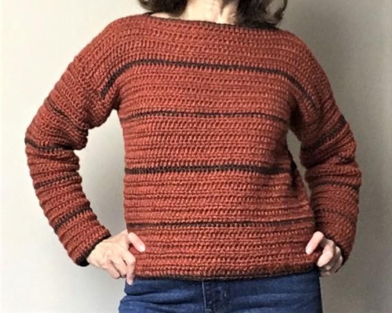 suéter de otoño con patrón de ganchillo gratis
