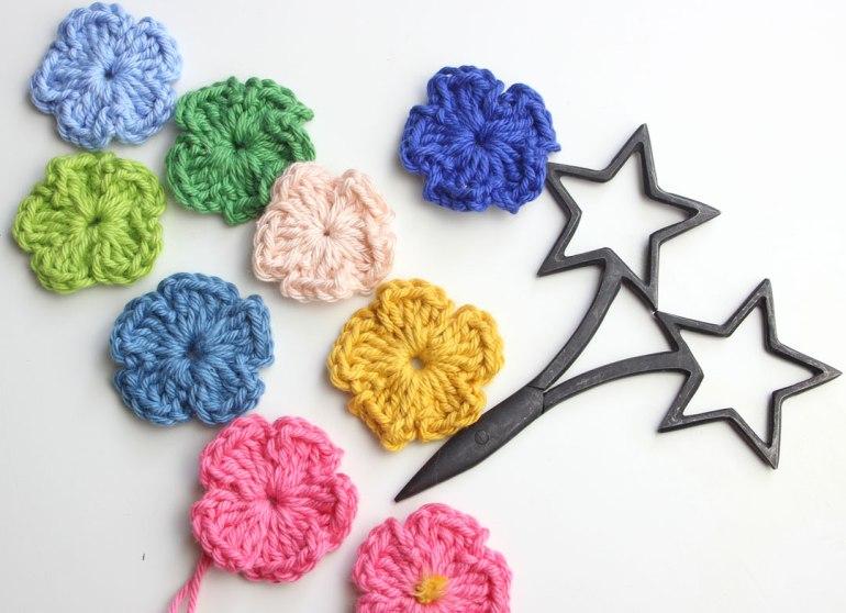 crochet para flores para principiantes