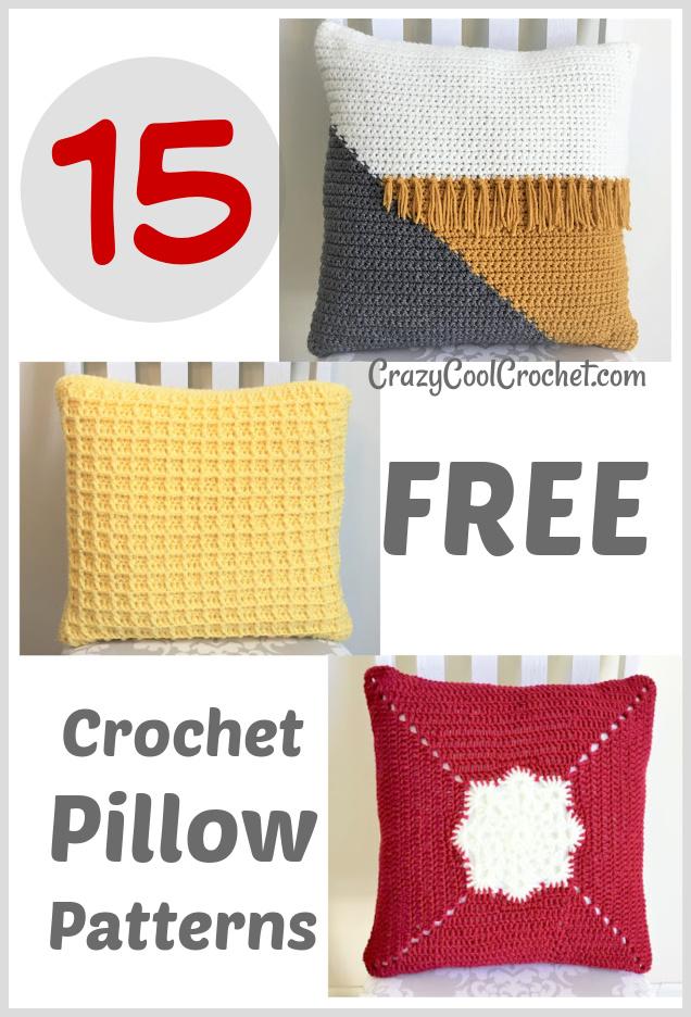 patrones de almohada de ganchillo gratis